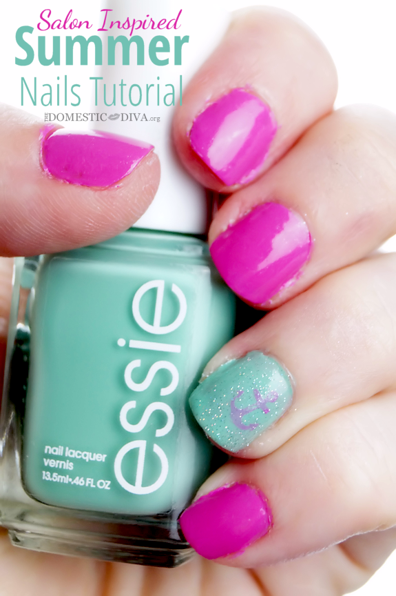 Salon Inspired Summer Nails Tutorial from Walmart Mom Heather ...
