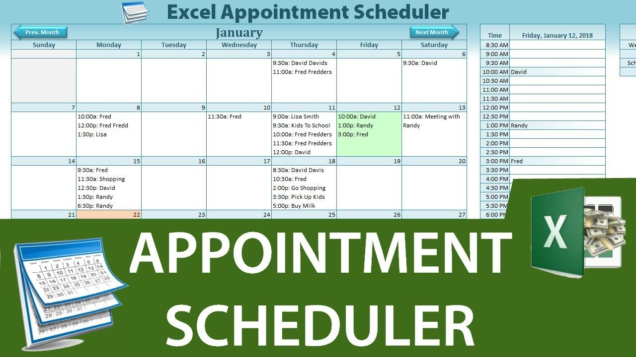 How To Create A Dynamic Appointment Scheduler In Excel Part 1