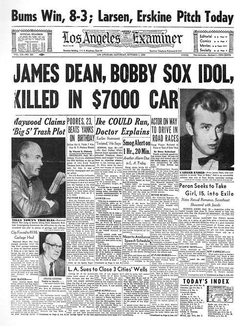 Image result for james dean body after crash Historical