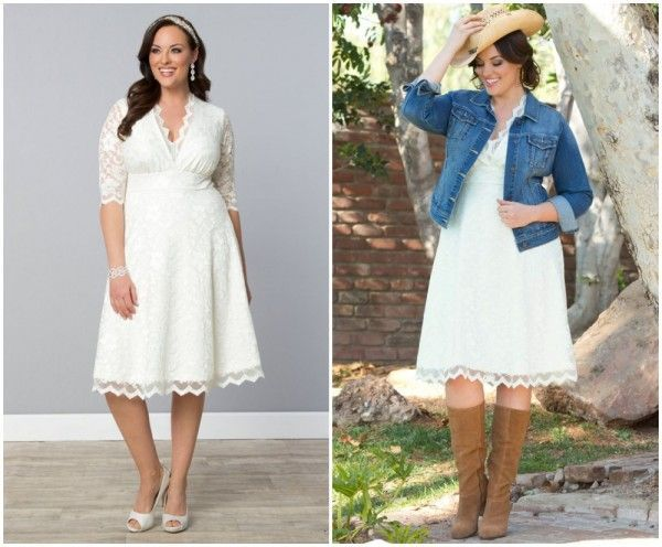 rustic wedding dress plus size bride, lace style dress, country ...