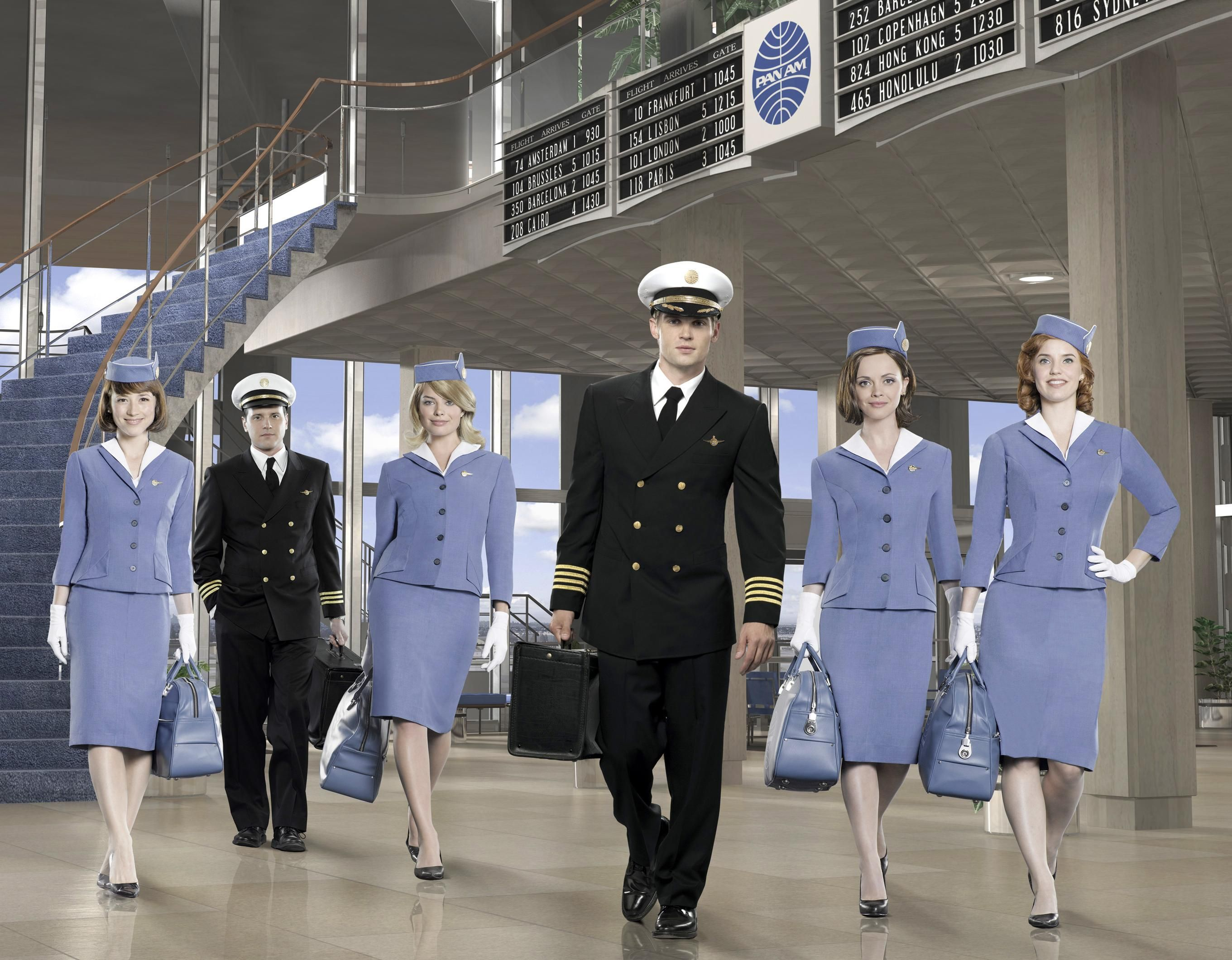 Pan Am ABC 2011 2012 Starring Christina Ricci Margot Robbie Michael Mosley Karine Vanasse Mike Vogel Kelli Garner