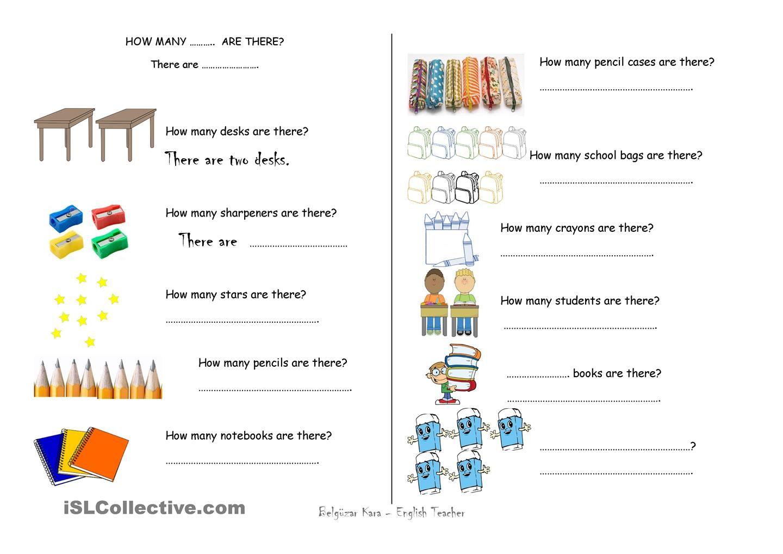 Classroom Language, School Supplies