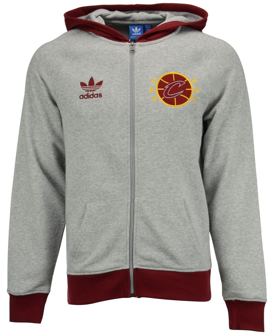 Adidas Men S Cleveland Cavaliers Originals Full Zip Hoodie Mens