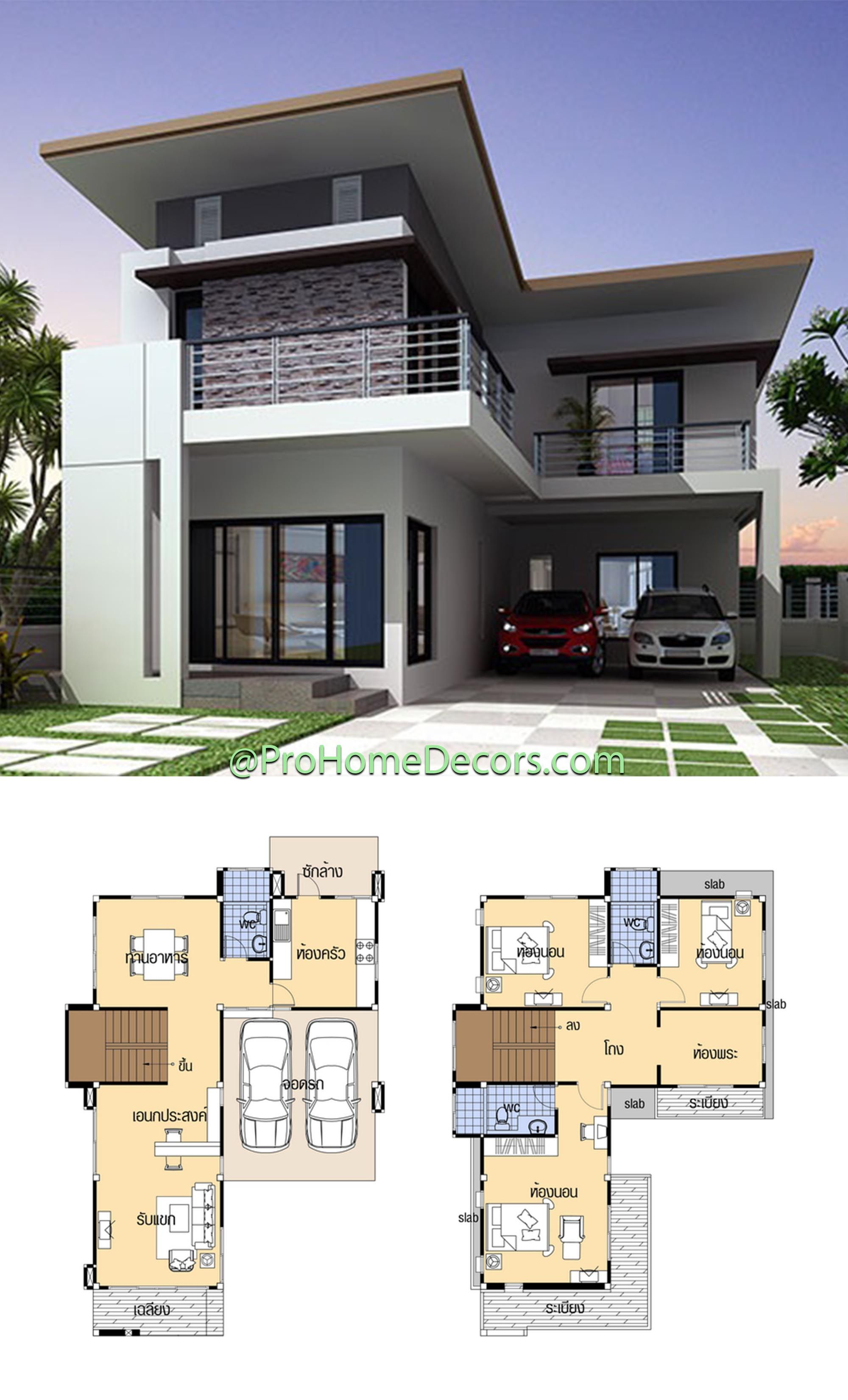 House Plans 9x14 With 4 Beds House Plans Model House Plan Simple House Design