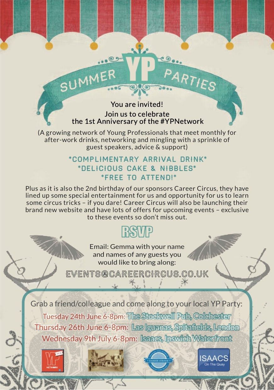 Here's a peek into what happened at our YP Summer Parties