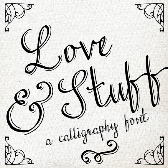 Calligraphy Font Download Hand Drawn Pen Lettering Lettered TTF Catchword Catch Word Flourish Ornament Commercial Use