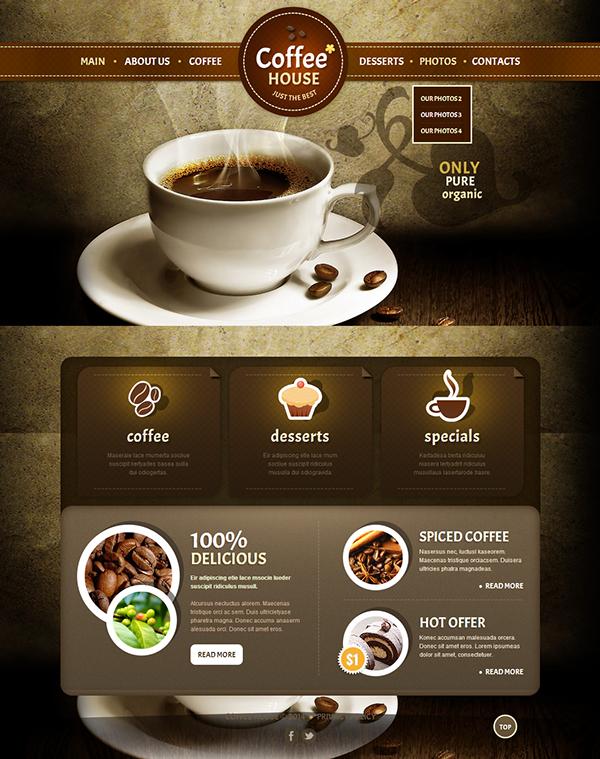 Coffee House Joomla Template By Html5 Web Templates Dizajn