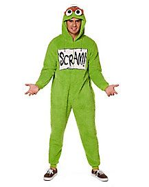 4f0aa87de8b6 Adult Oscar the Grouch One Piece Costume - Sesame Street