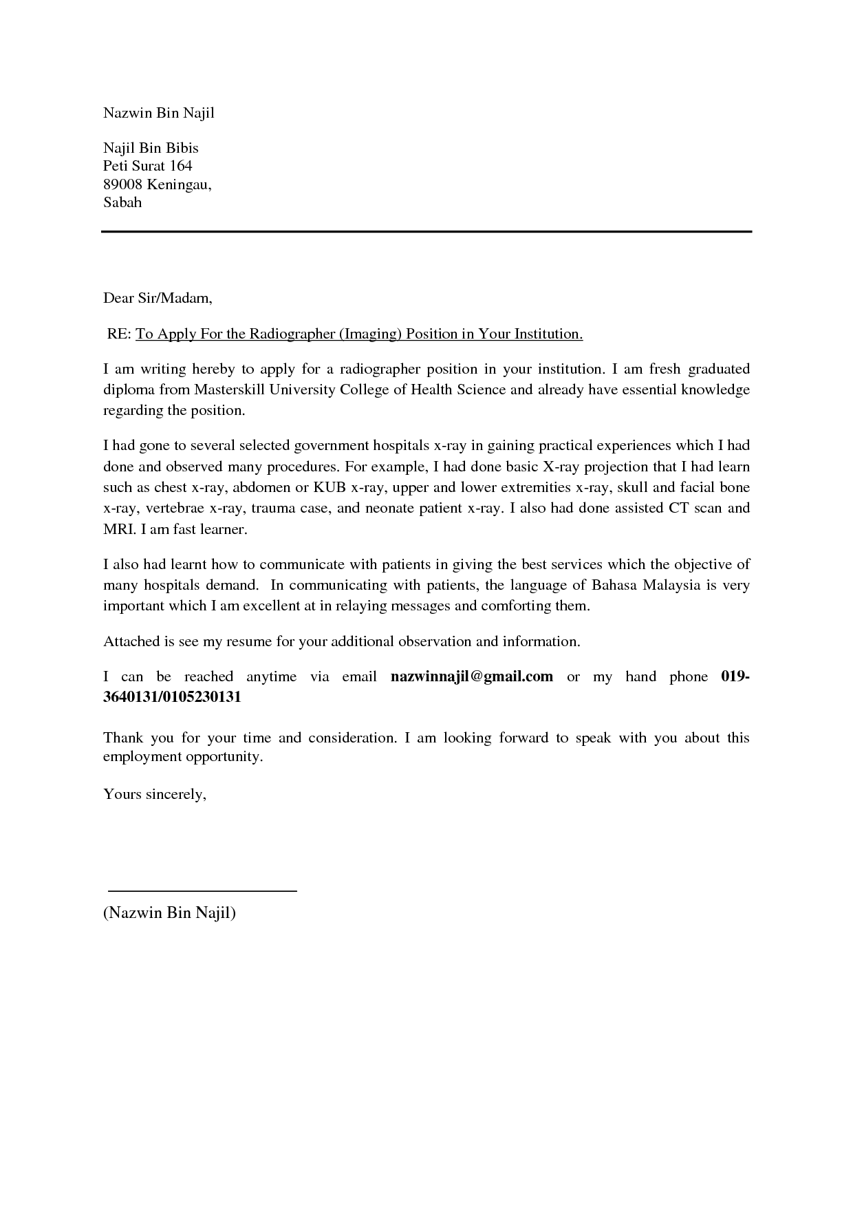 professional cover letter sample 16 format cover letter examples