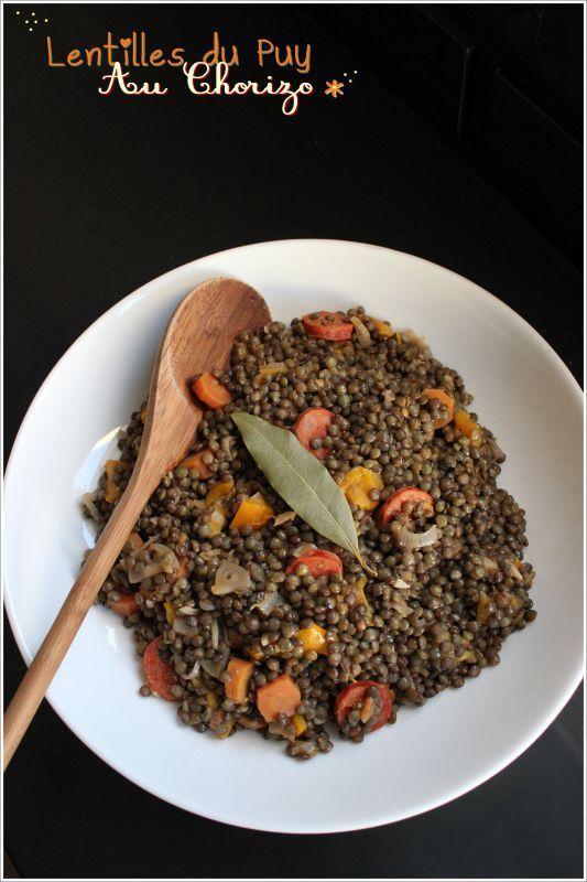 Lentilles du puy au chorizo vegetables l gumes salades chorizo l gumes et lentilles - Cuisiner les lentilles vertes ...