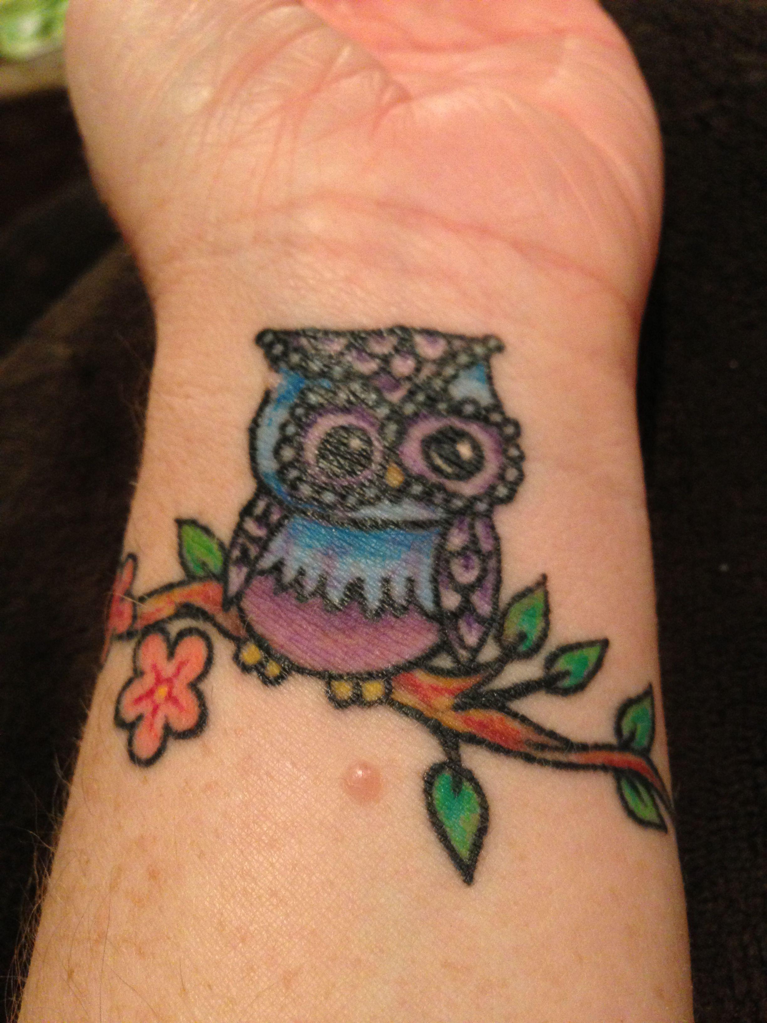 Owl Tattoos On Wrist: My New Owl Wrist Tattoo