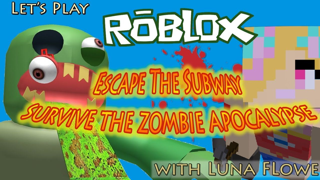 Let's Play Roblox - Escape the Subway Obby - Survive Zombie