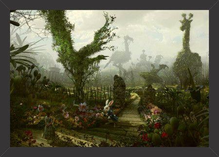 Alice no País das Maravilhas - Alice e o Coelho - Tcholos - A sua loja de quadros decorativos