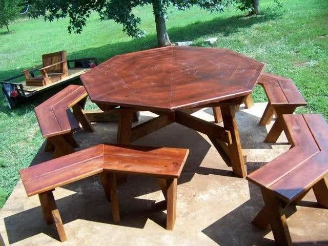 Octagon Picnic Tables For Sale Dream Houses Pinterest Octagon - Octagon picnic table for sale