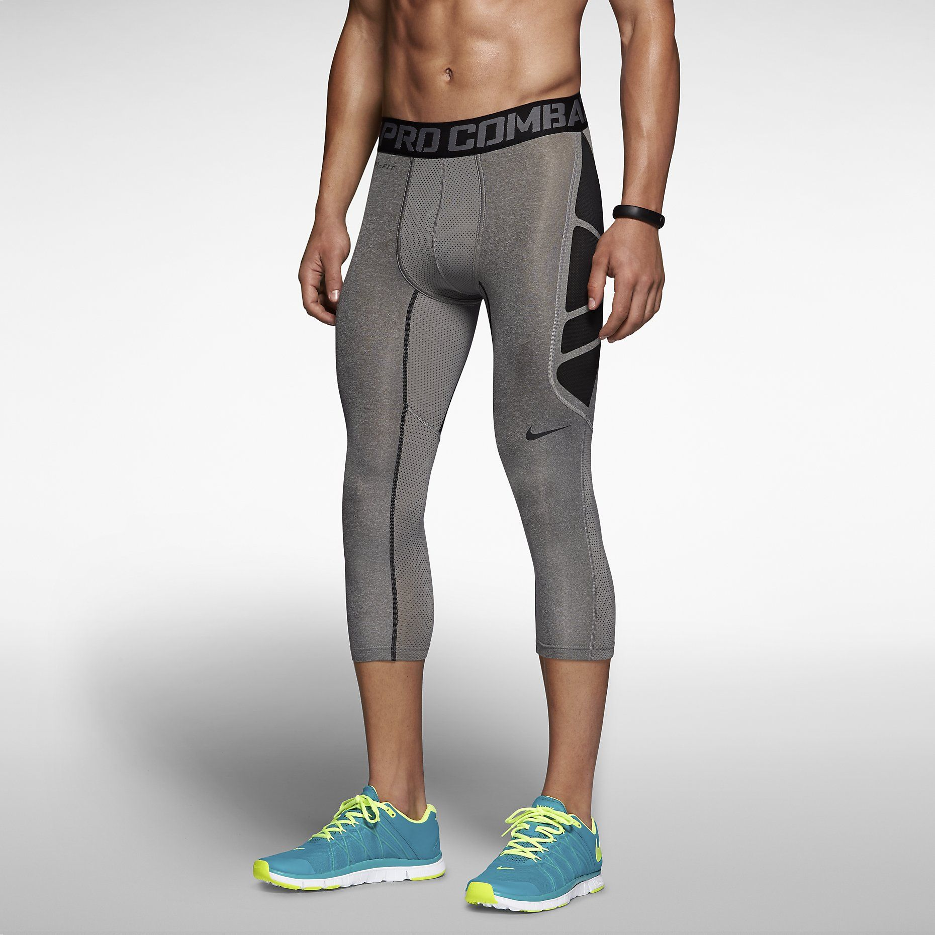 c6377188f4 Nike Pro Combat Hypercool Compression 3/4-Length Men's Tights. Nike ...
