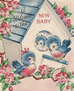 Vintage greeting cards with bluebirds oh so cute vintage greeting cards with bluebirds m4hsunfo Image collections