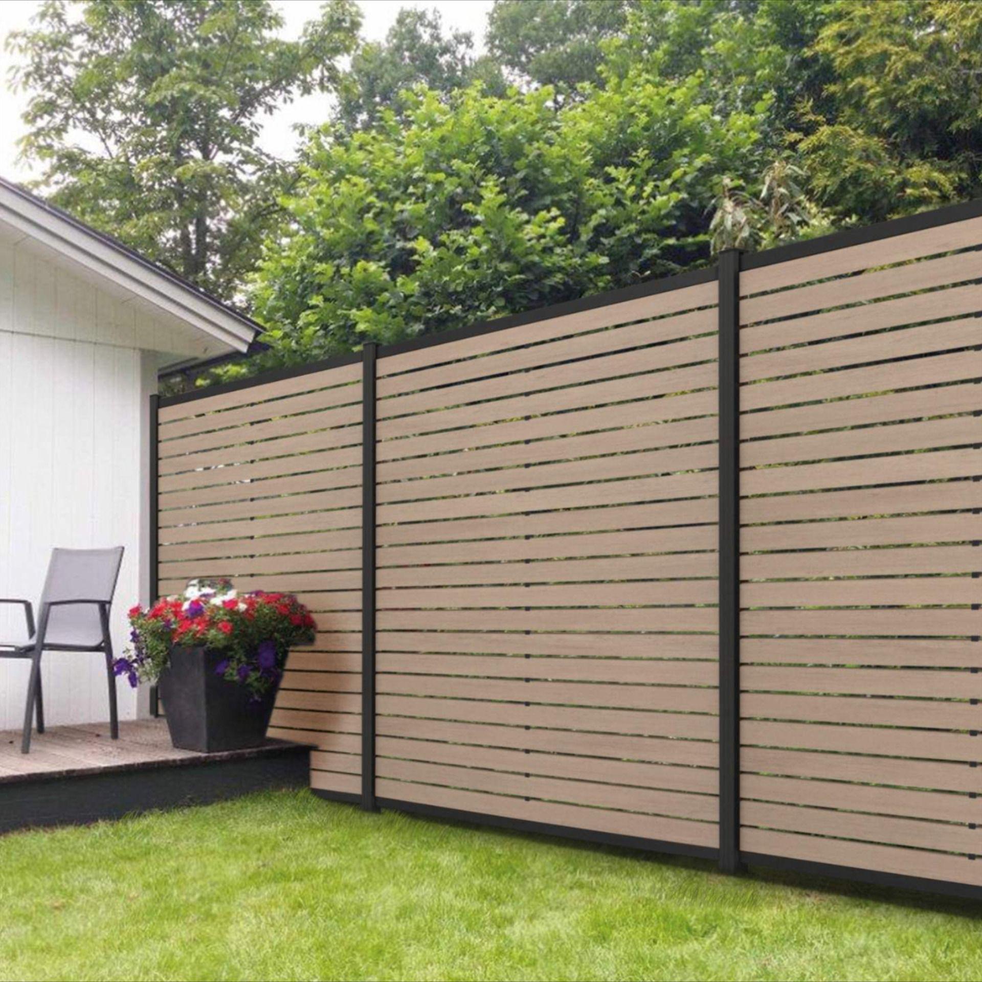 Wpc Rhombus Steckzaun In Verschiedenen Farben In 2020 Steckzaun Sichtschutzzaun Garten Zaun Garten
