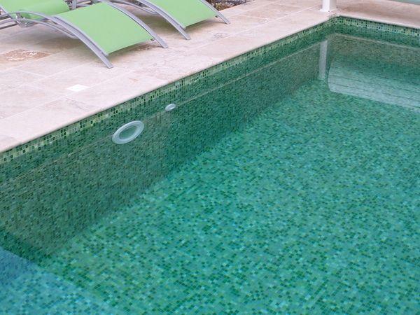 Mosaique piscine verte carrelage piscine Pinterest