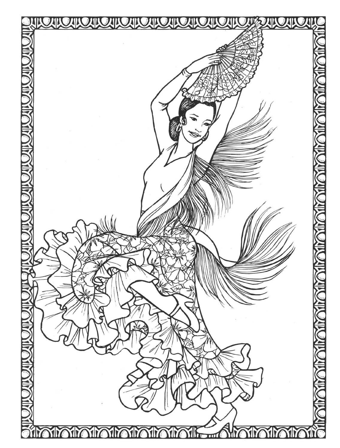 Dancers Coloring Book Costumes For Coloring Coloring Books Book Costumes Coloring Pages