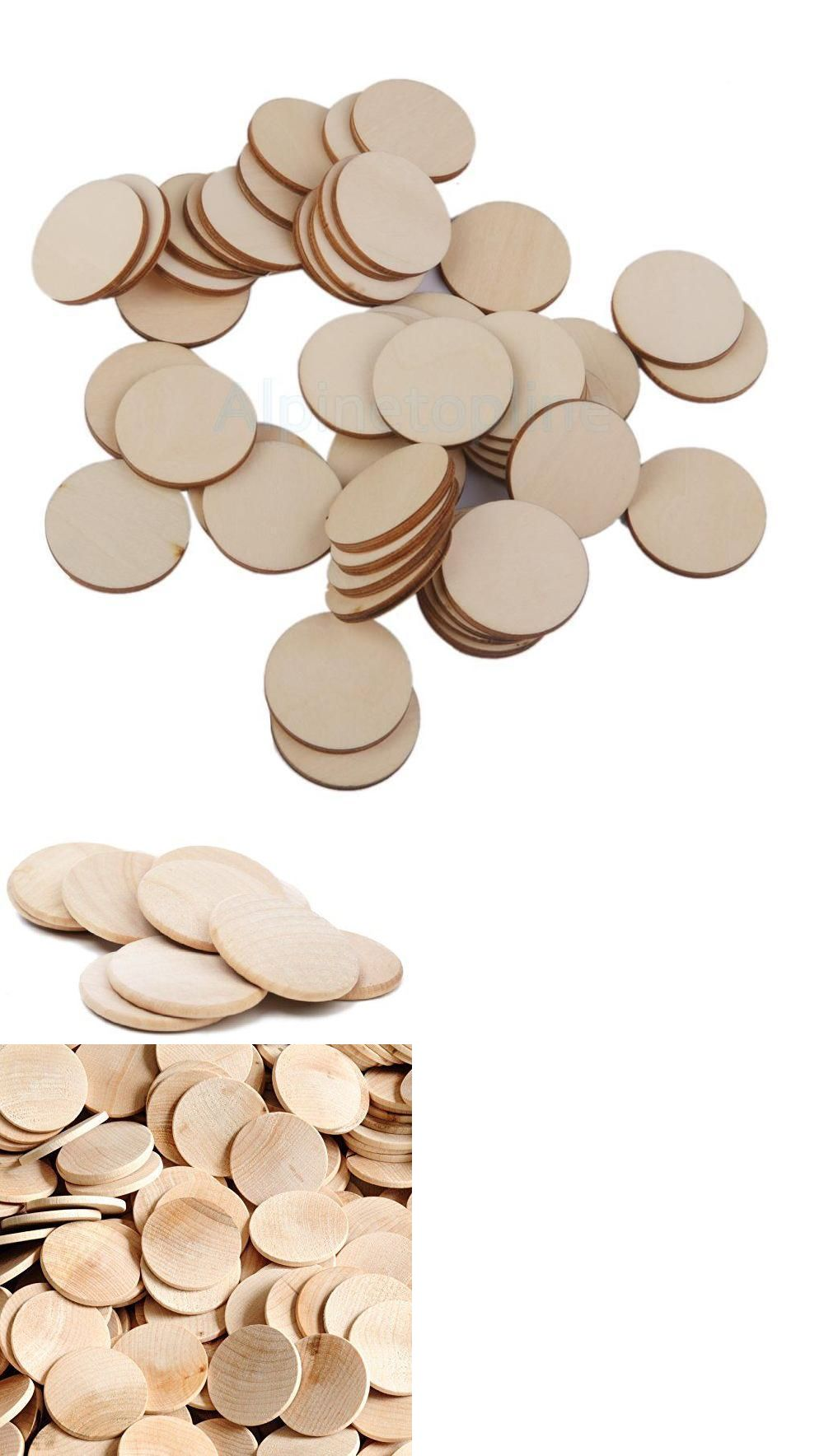 Wooden Craft Circles Round Disc Unfinished Wood Cutouts Ornament Project Arts Wood Cutouts Wooden Crafts Wooden