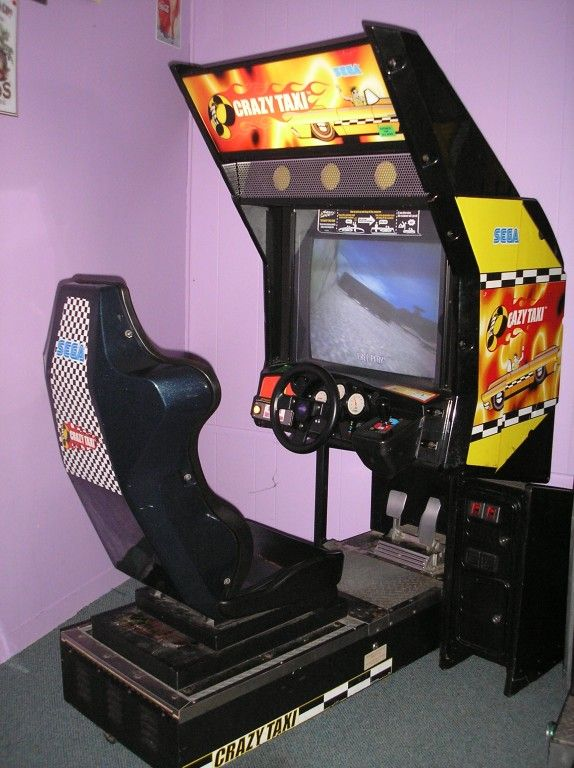 crazy taxi arcade cabinet - Google Search | racing arcade cabinets ...