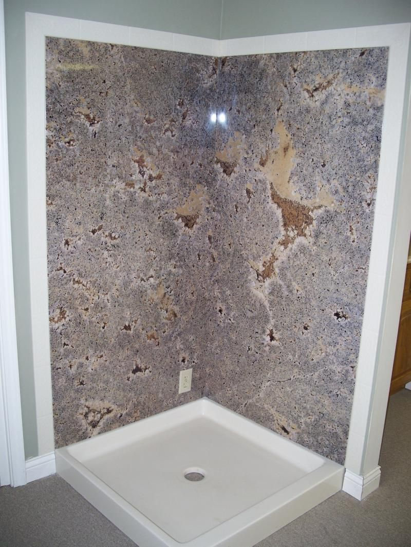 Distinctive Cultured Marble For Decorating Bath And Kitchen: Amusing Cultured  Marble Shower Wall And Shower