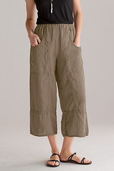 f88397e86ff176 cynthia ashby cropped linen pants | Stuff I would wear in 2019 ...