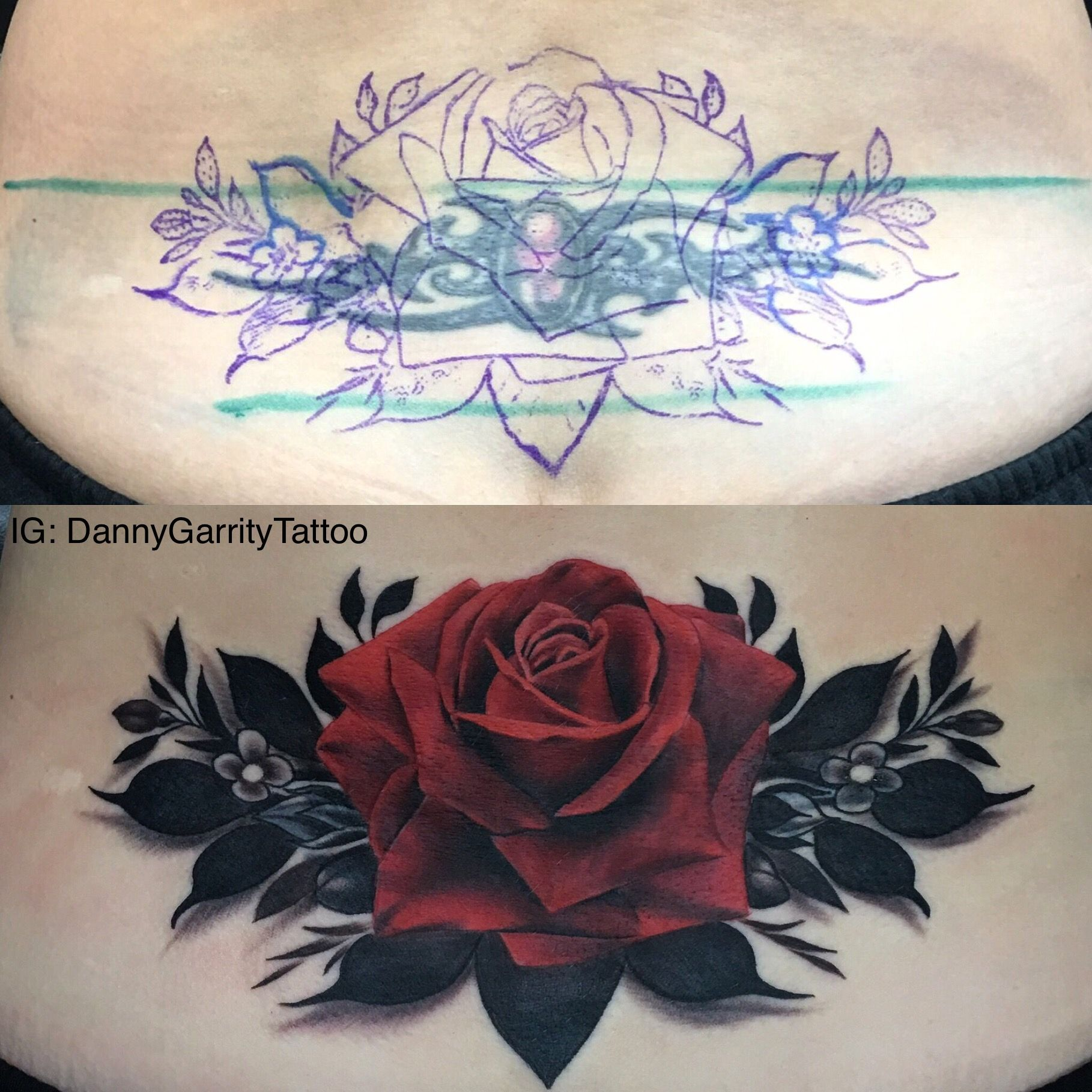 Tribal Tramp Stamp Tattoo Coverup On Woman Pleased With How This
