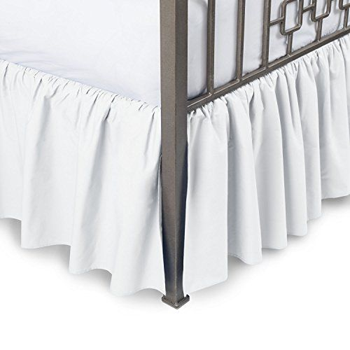 Harmony Lane Ruffled Bed Skirt With Split Corners Twin White