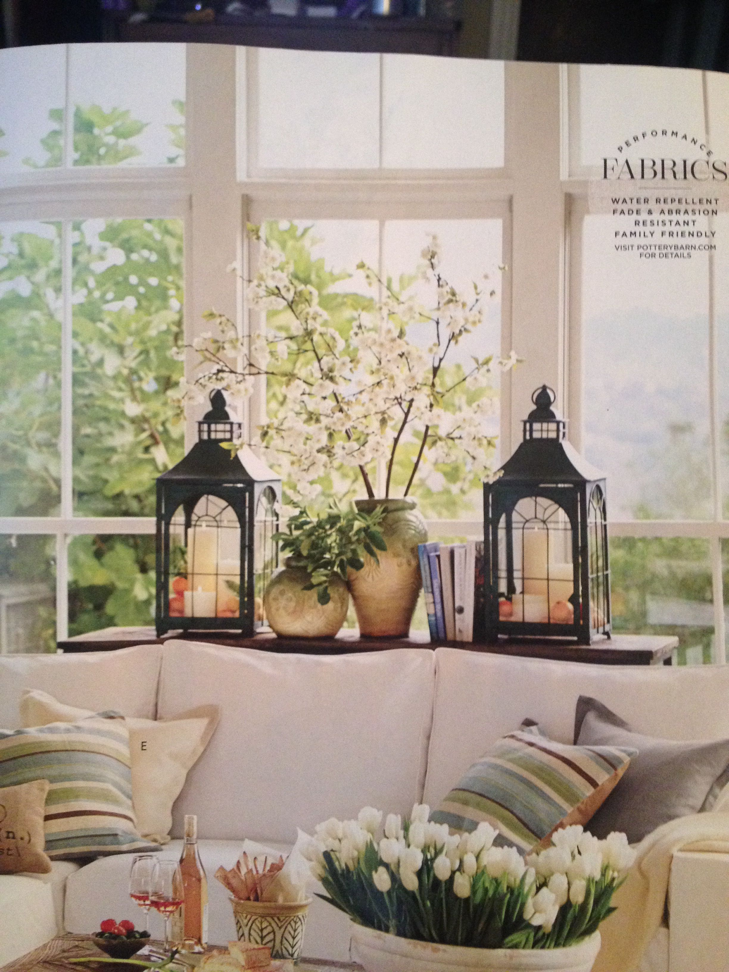 Pottery barn living room ideas for redecorating pinterest pottery window and tables for Pottery barn living room ideas pinterest