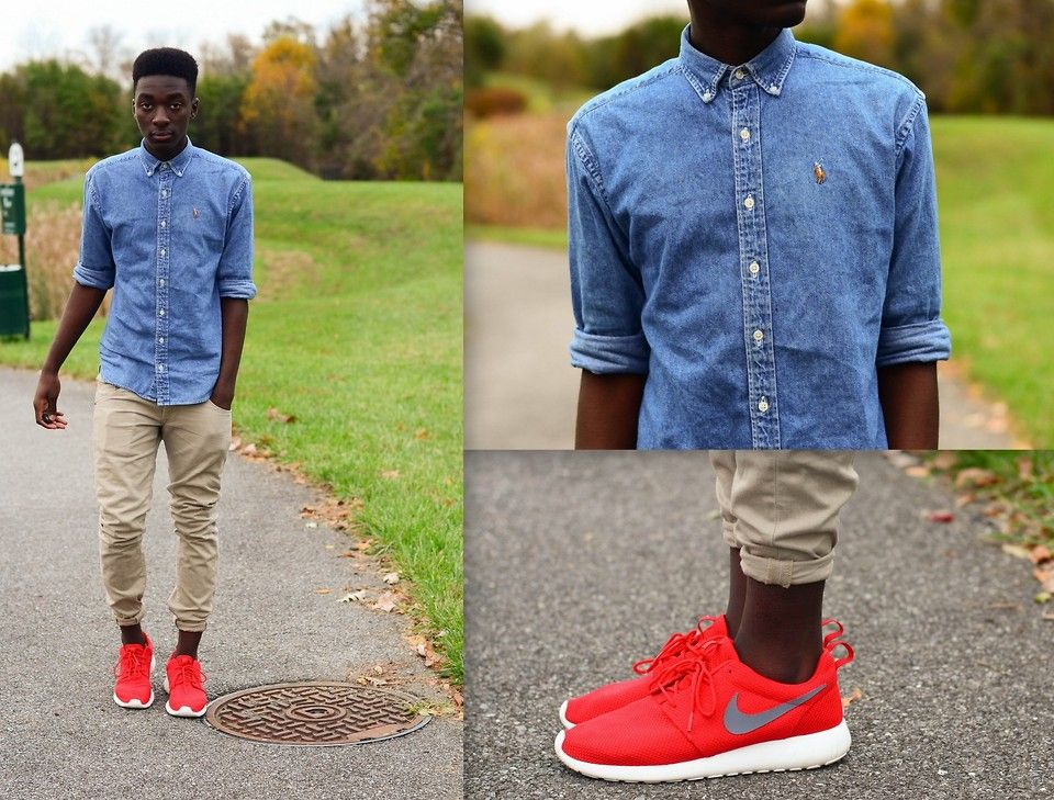 nike roshe runs black and white mens button down shirt