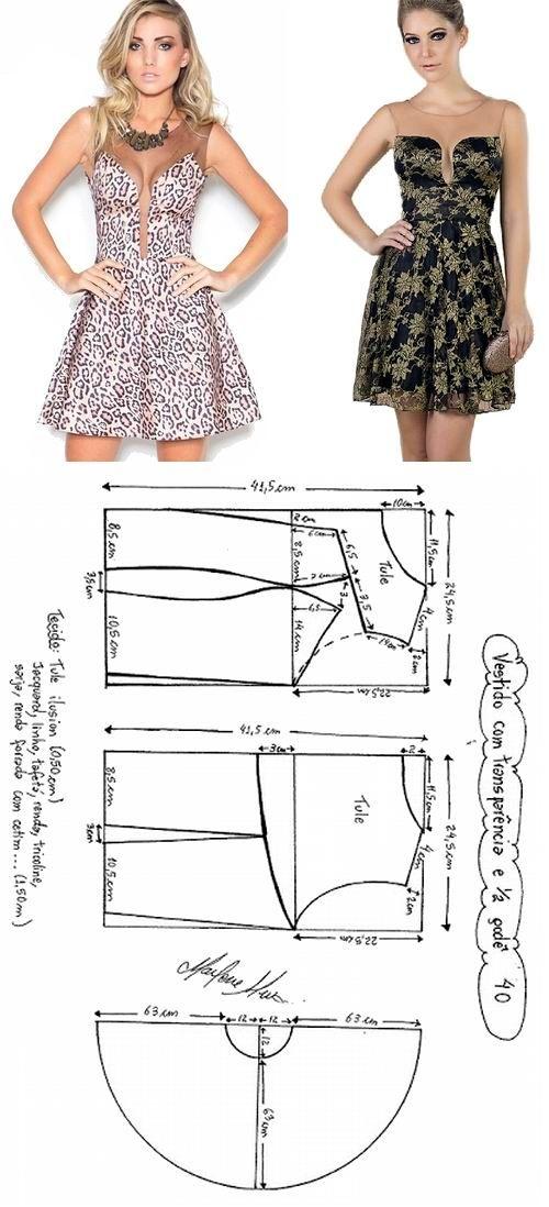 Pin de Yo en Costura | Pinterest | Vestidos con transparencias ...