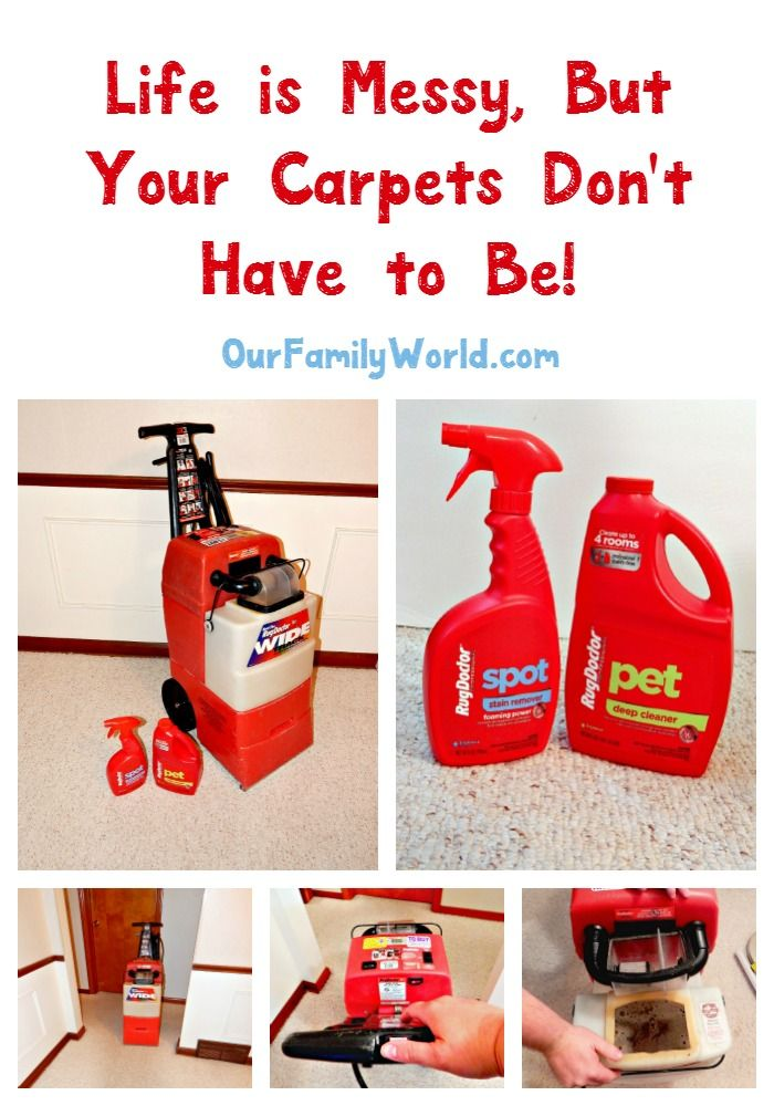 When life makes a mess of your carpets, make your own house call with the Rug…