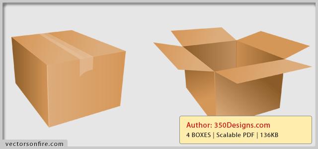 Cardboard Box Icons 4 Icons Box Icon Cardboard Box Cardboard