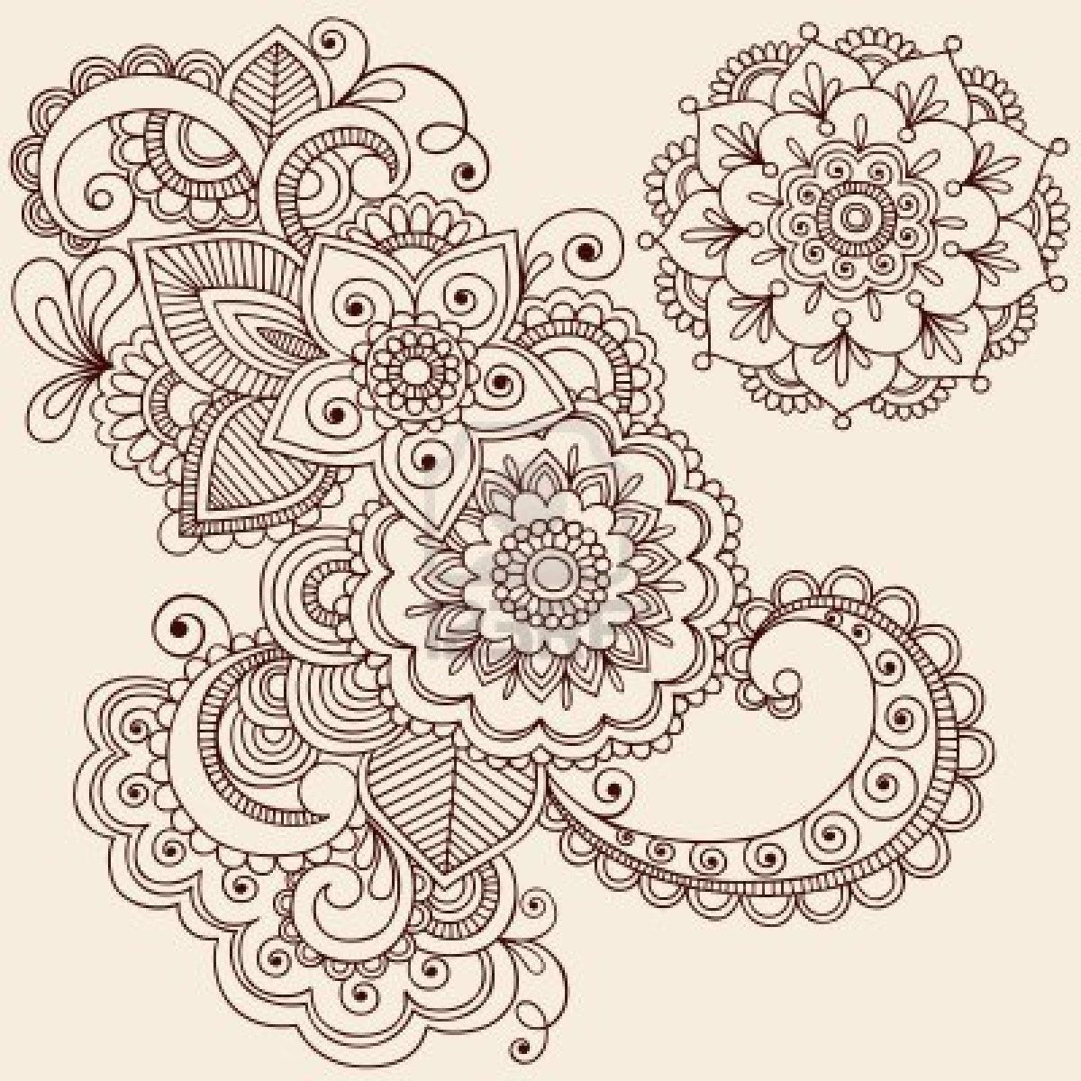 Henna Mandala Flower Tattoo Design Wallpaper
