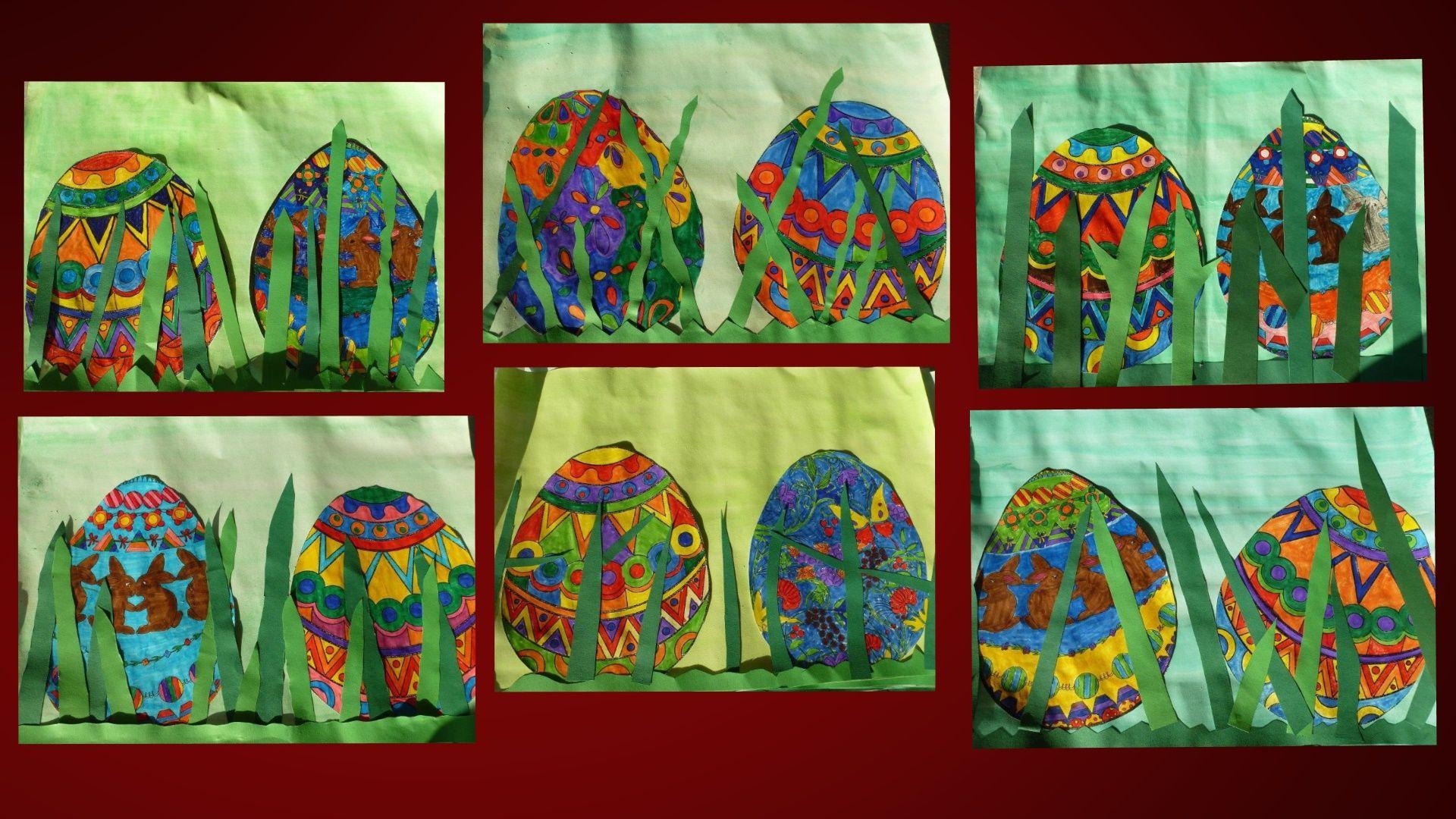Weihnachtsbasteln 4 Klasse.Arbeiten Der Klasse 4 Easter Kunst Grundschule Frühling Kunst