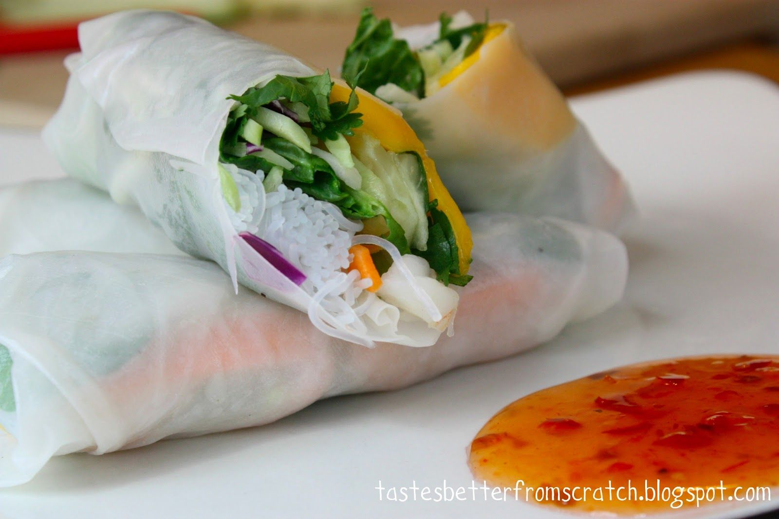 Fresh Spring Rolls Recipe Recipes Spring Rolls Fresh Spring Rolls