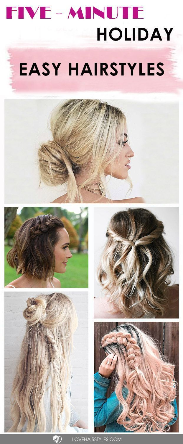 fiveminute gorgeous and easy hairstyles fancy hairstyles easy