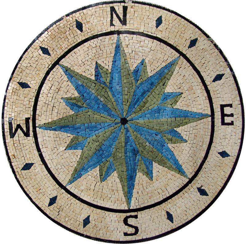 MD115 Marble Mosaic Medallion Tile