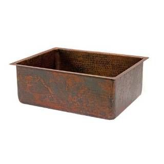 """Check out the Premier Copper KSDB30199 30"""" Copper Hammered Kitchen Single Basin Sink in Oil Rubbed Bronze"""