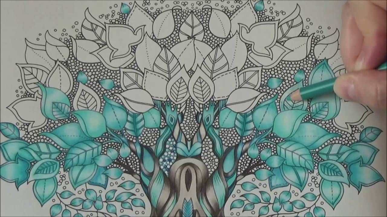 How I Color A Magic Tree Tutorial 2 Prismacolor Enchanted Forest By Joha