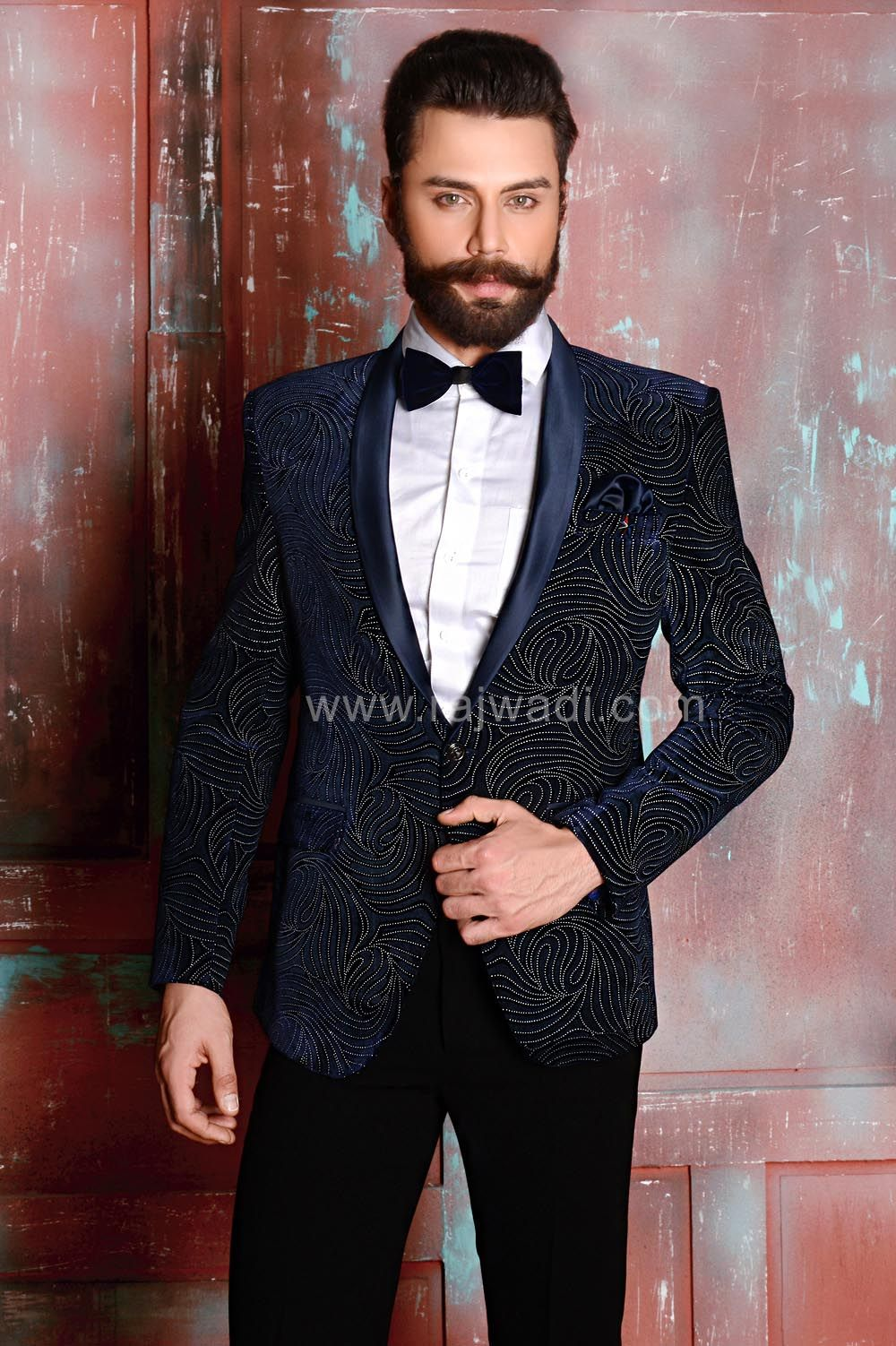 Velvet Wedding Suit Rajwadi Menswear Feelroyal Menssuit Stylish Der