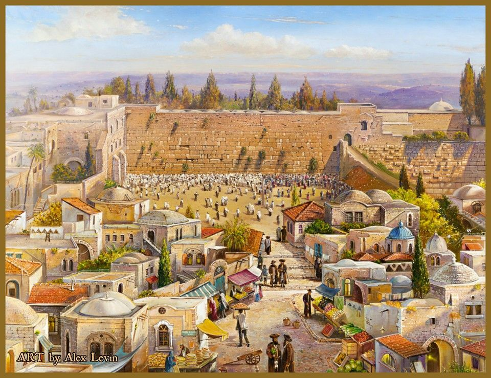 Old Market in Jerusalem Painting by Alex Levin www.ArtLevin.com ...