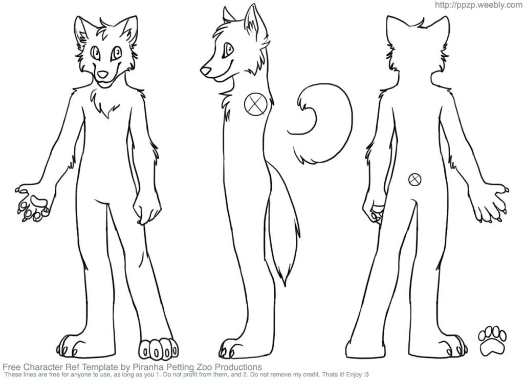 Need fursuit character reference sheet? Read here