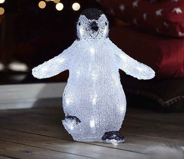 A battery powered LED-illuminated black and white penguin with 24 white LEDs from Konstsmide & Indoor Lightup Black and White Penguin | Power led and Penguins