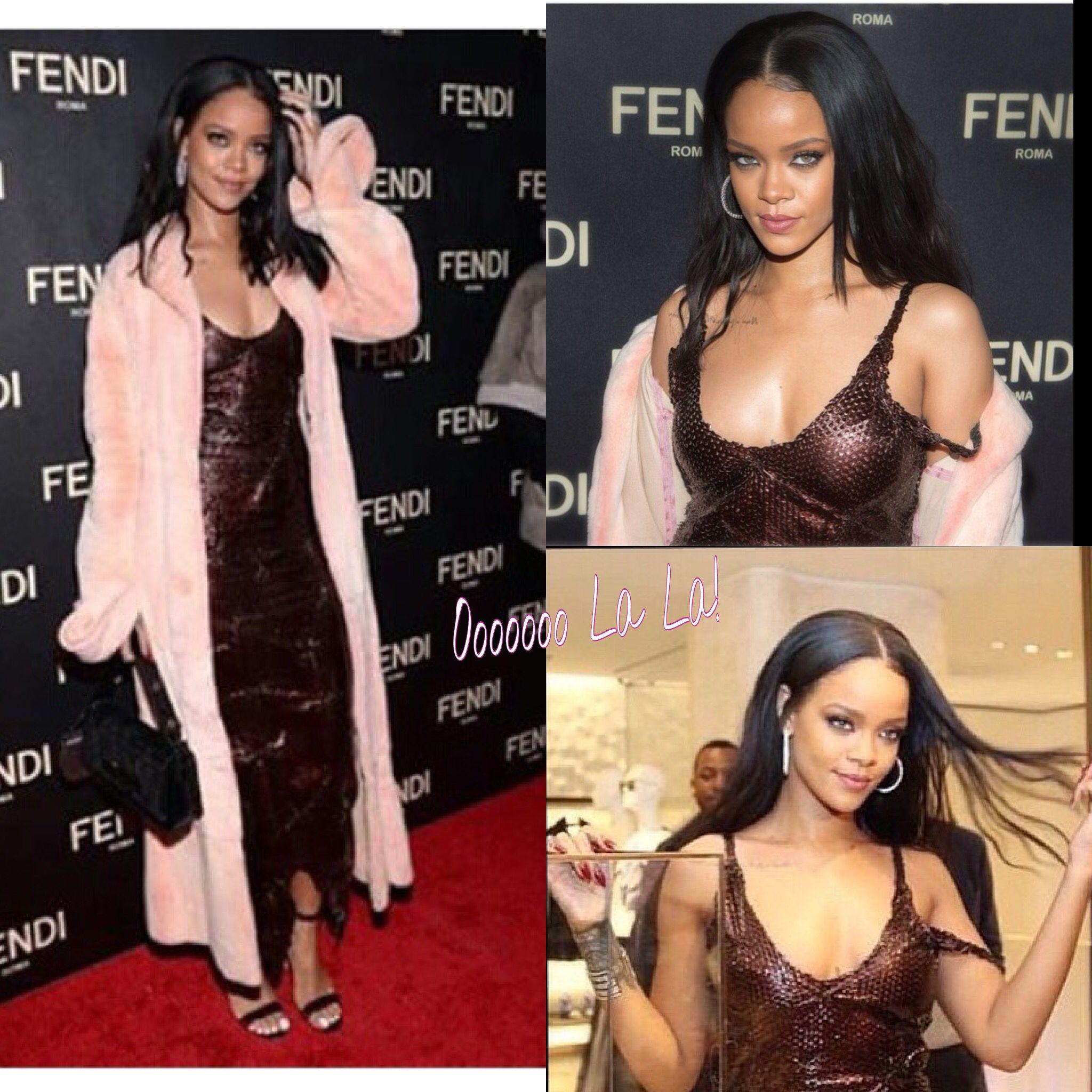 RiRi attended the Fendi New York Flagship Boutique tonight in NYC!  #OooLaLaBlog #Rihanna #Fendi #NYC #NYFW #fashion NewYorkFashionWeek #AllStarWeekend #RihannaNavy