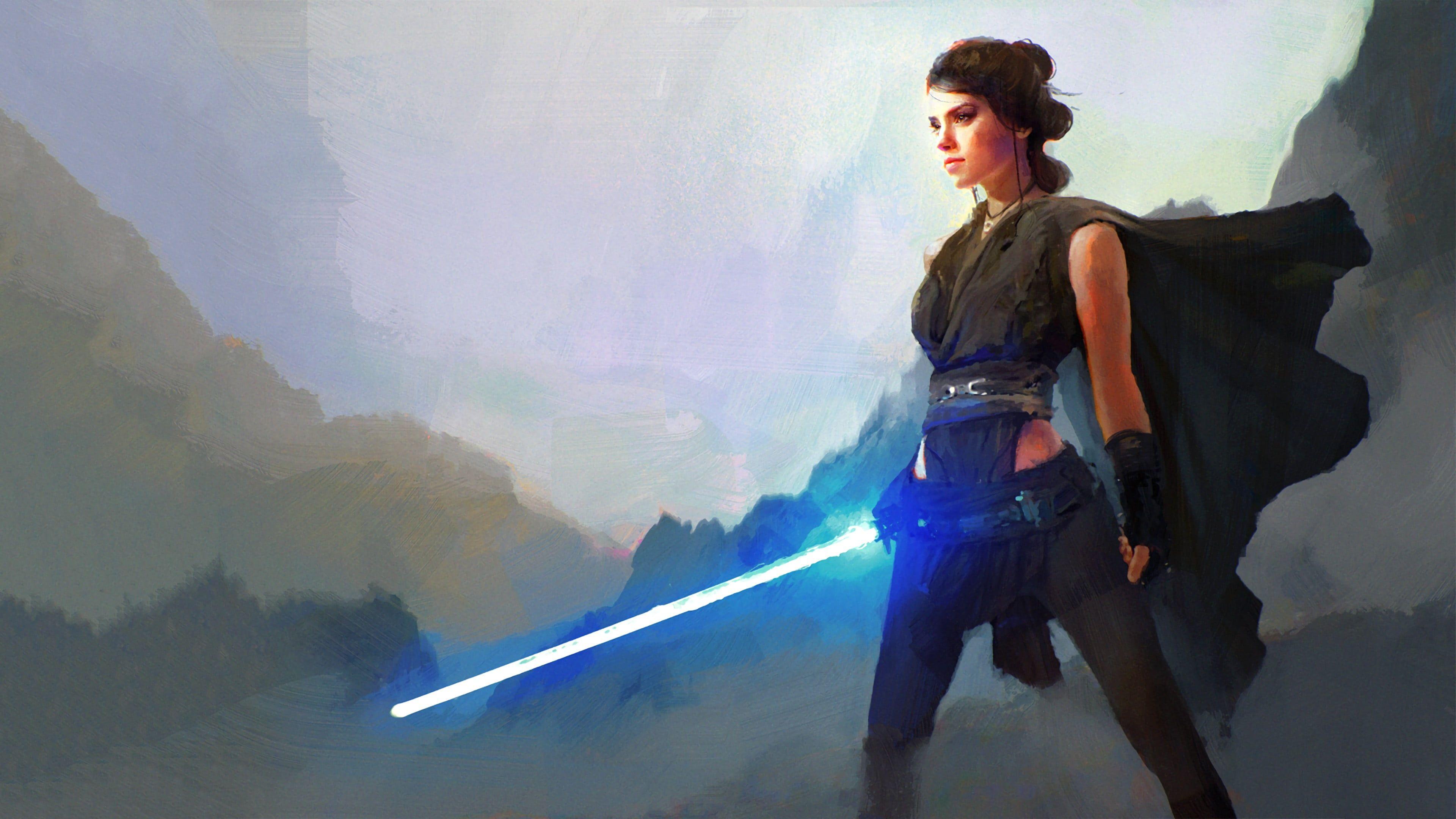 Star Wars Character Illustration Star Wars Rey From Star Wars