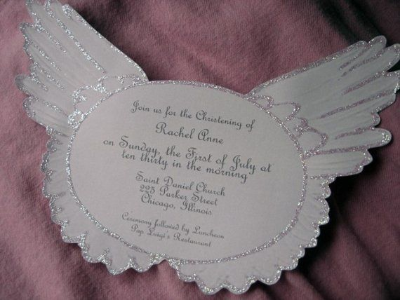 Angel Wings Baby Shower Invitations Image collections Invitation