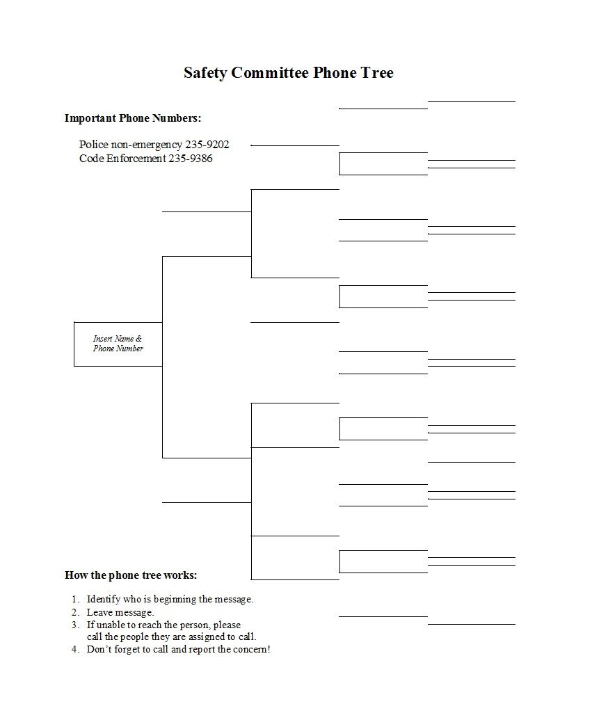 The Fascinating 50 Free Phone Tree Templates Ms Word Excel ᐅ