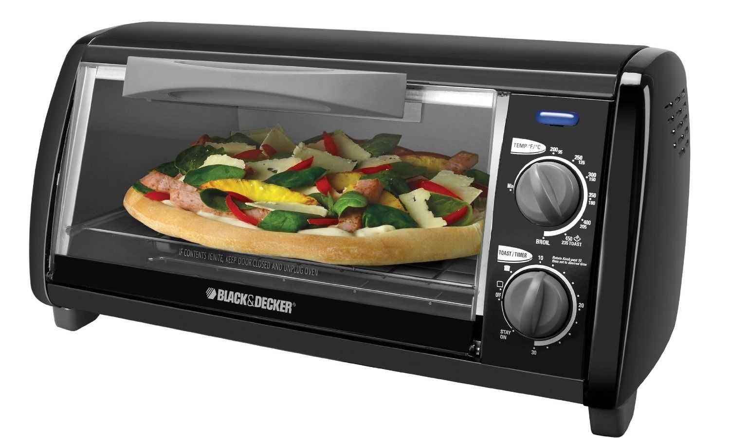 Black And Decker To1420b 4 Slice Toaster Oven Black Review More